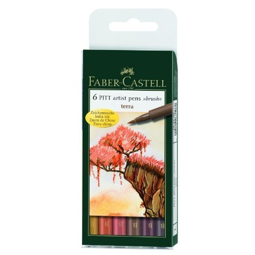 Faber-Castell - PITT Artist Pen Brush Wallet of 6