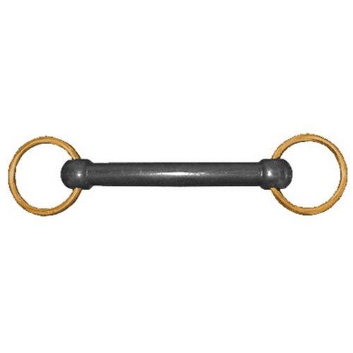 JHL Pro-Steel Nylon Brass Ring Snaffle
