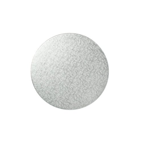 "6"" Thin Silver Round Cake Board 3mm Thick"
