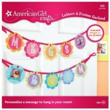 American Girl Crafts Garland, Letters & Frames