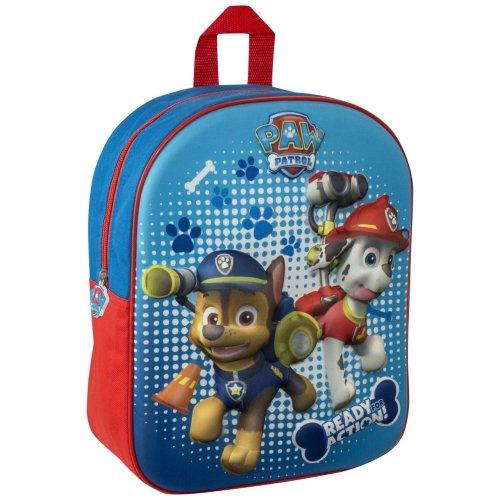 Paw Patrol 3D Image Backpack Chase & Marshall Kids School Junior Bag