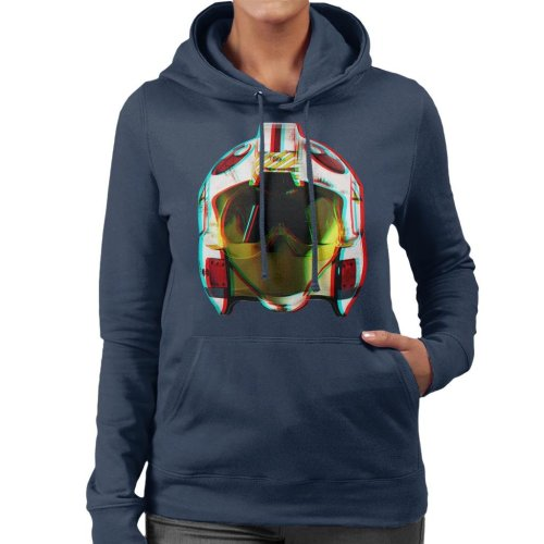 Original Stormtrooper Rebel Pilot Helmet 3D Effect Women's Hooded Sweatshirt