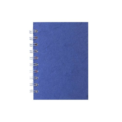 Pink Pig A6 Portrait, Mid Blue - Notebook Lined Paper 70 Leaves