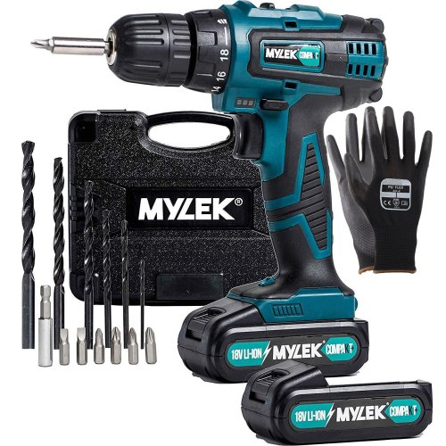 Mylek 18V Fast Charge Drill With Spare Battery