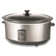 Morphy Richards 48718 Oval Slow Cooker 6.5 Litre Removable Pot Stainless Steel