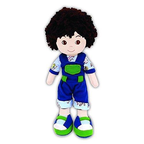 GirlznDollz Cedric Animal Overalls Baby Doll, Blue/Green