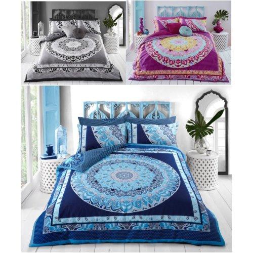 Paisley Mandala Percale Premium Duvet Cover Reversible Bedding Set