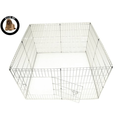Ellie-Bo Easy-Up Puppy Rabbit Play Pen, 76 cm, Silver, 8-Piece