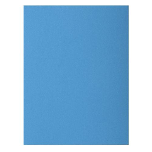 Exacompta 24 x 32 cm Rocks Square Cut Folder, 210 g - Blue, Pack of 10