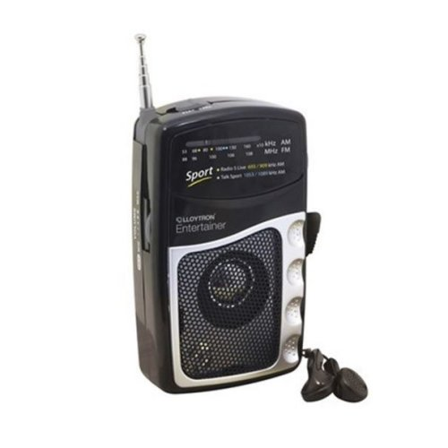 'Entertainer'' 2 Band Dc Personal Radio with Earphones - Black