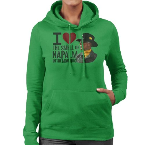 The Smell Of Napalm In The Morning Apocalypse Now Women's Hooded Sweatshirt