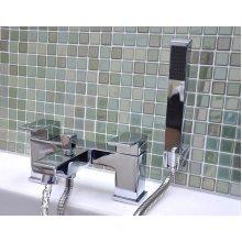 Bath Basin Filler Tap & Shower Head Chrome Bathroom Luxury Faucet