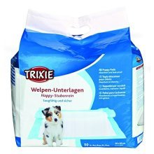 Trixie Nappy Puppy 50 Pad, 60 x 40cm - Pad Training Sizes 40cm Pads Dog -  trixie puppy nappy pad training sizes 50 60 40 cm pads dog incontinence