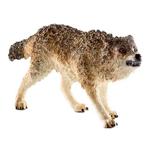 14741 Howling Wolf Figurine, Gray