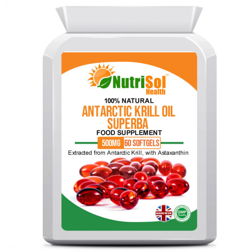 NutriSol Health 100% Pure Superba Antarctic Krill Oil 500mg 60 Capsule
