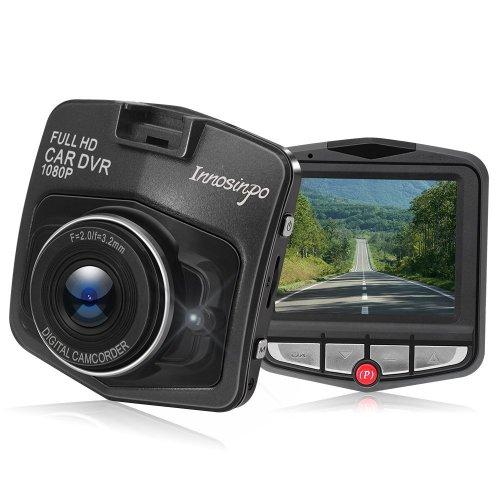 Dash Cam Full HD 1080P Car DVR, Built In G-Sensor, Parking Monitor (Black)