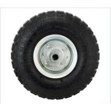 """10"""" Heavy Duty Pneumatic Wheel Tyre with Rim Cart Trolley Wheelbarrow"""