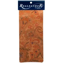 "Realeather Crafts Goat Leather Trim Piece 9""X3""-Paisley"