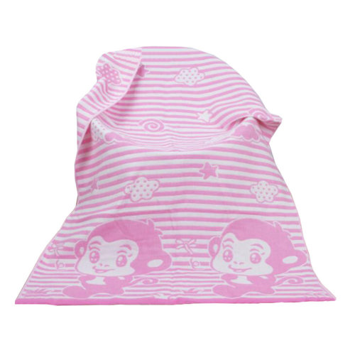 Personalized Cotton Towels Kids Towel Large Soft  Bath Towel Beach Towels 140*70 cm,monkey, pink