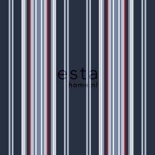 wallpaper stripes navy blue - 115637
