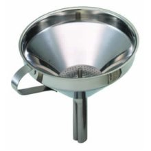 13cm Stainless Steel Funnel - Kitchen Craft Removable Filter -  funnel kitchen craft removable filter 13cm stainless steel