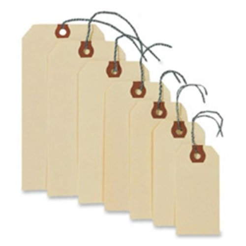 Consumer Products  Shipping Tags W-Wire- No 4- 4-.25in.x2-.13in.- Manila