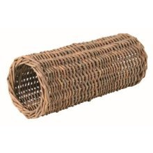 Trixie Wicker Tunnel For Hamsters, 25 x 10cm - Natural Toy Mice Hideaway Tube -  natural wicker toy mice trixie tunnel hideaway tube gerbils hamsters
