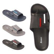 Mens Remax Shoda Slides Sliders Flip Flops Sandals