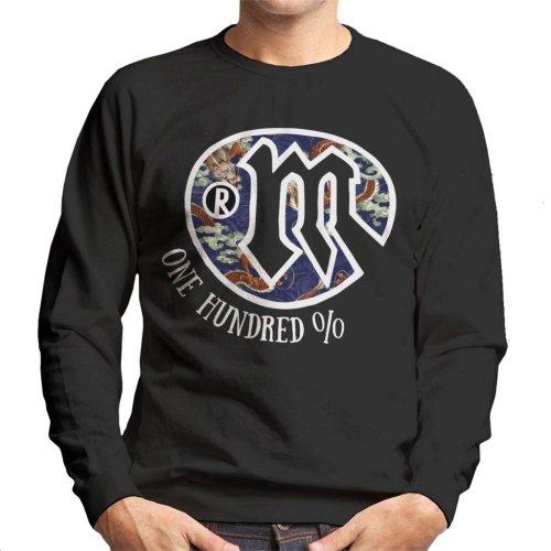 Mambo Dragon Art Logo Light Text Men's Sweatshirt