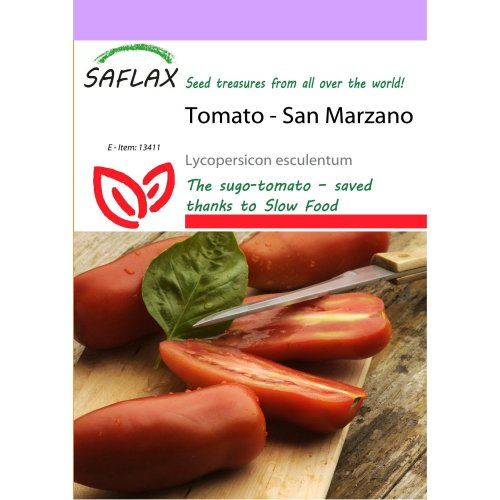 Saflax  - Tomato - San Marzano - Lycopersicon Esculentum - 10 Seeds