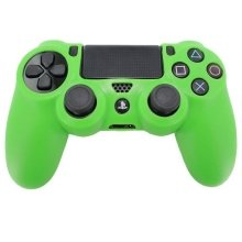 Zedlabz Pro Soft Silicone Protective Cover with Ribbed Handle Grip - Green PS4