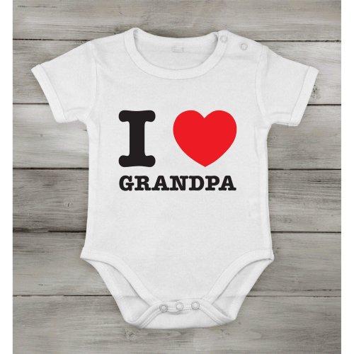 I love Grandpa best dad Funny Cute Baby Newborn short Cotton cothing