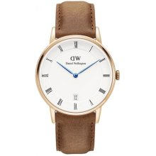 Daniel Wellington Dapper DW00100113 Watch Brown Leather Woman