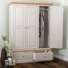 Kensington Painted Oak Triple Wardrobe