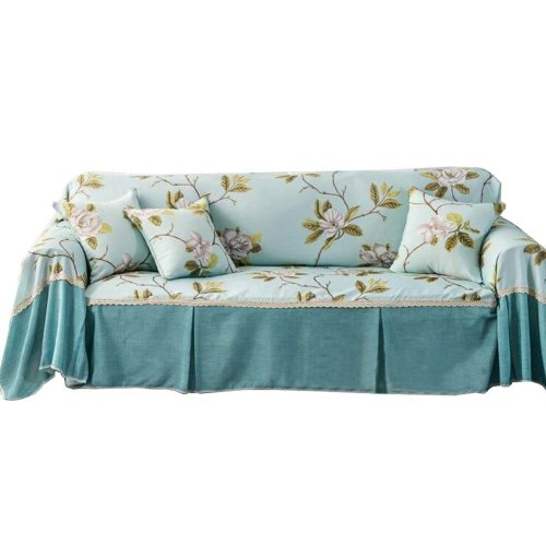 3 Seat Sofa Slipcover Elegant Couch Cover Furniture Protector #03