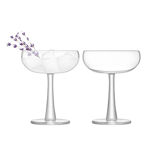 LSA International Gin Coupe 280ml Clear x 2, Set of 2