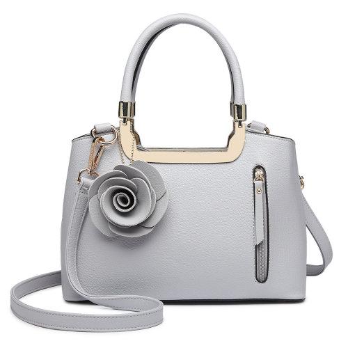 Miss Lulu Women Rose Ornament Handbag Shoulder Bag Tote