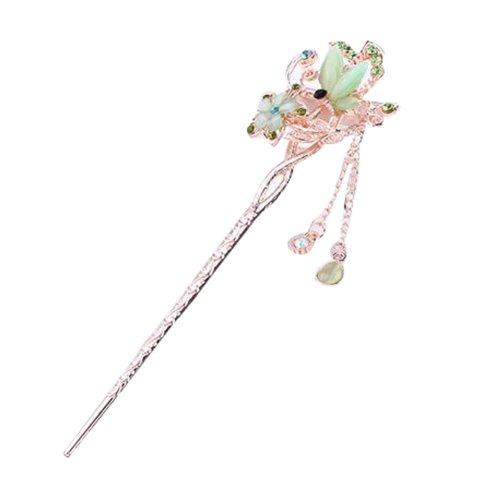 Popular Hairpin Hair Ornaments Hair Clip Headwear Hairpin Crown Green