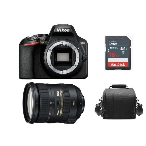 NIKON D3500 Black + AF-S 18-200MM F3.5-5.6G ED VR II DX + Bag + 16gb