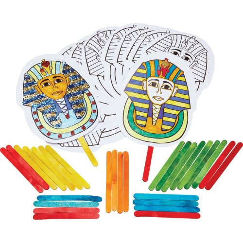 Tutankhamun Stick Puppets KS2 History Craft Activity (Pack of 30)