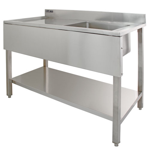 KuKoo Commercial Stainless Steel Sink - Left Hand Drainer