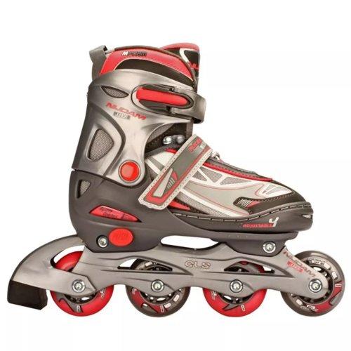 Nijdam Junior Inline Skates 27-30 Anthracite/Silver/Fuchsia 52SR Children