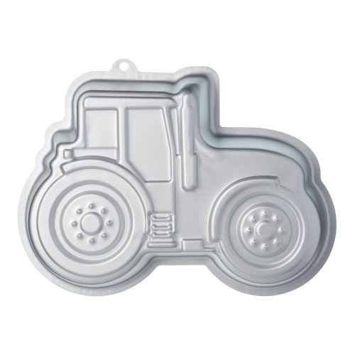"KitchenCraft Sweetly Does It Novelty Tractor Cake Tin, 28.5 x 20 x 5.5 cm (11"" x 8"" x 2""), Aluminium, Silver, 21.1 x 28.3 x 5 cm"