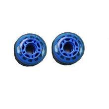 Set of Two PU Inline Skate Wheels Roller Skate Wheels 70MM Blue