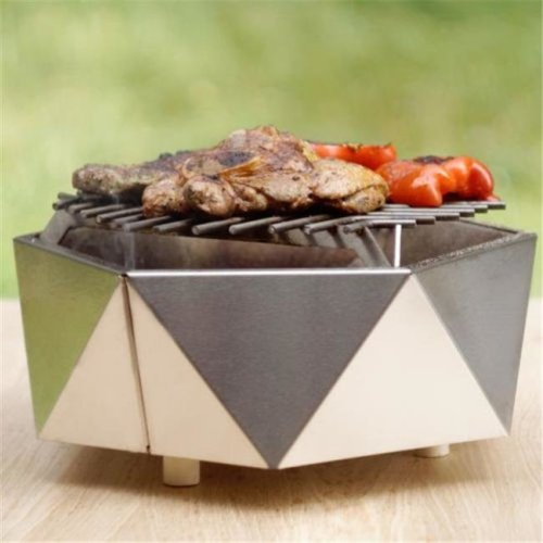 Curonian MX-44GK-FMR0 Stainless Steel Charcoal Tabletop Grill Curonian