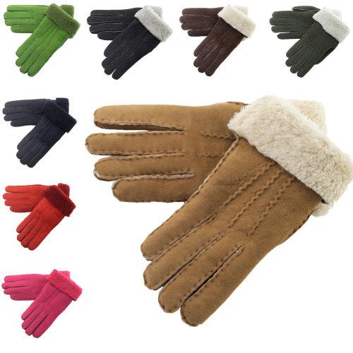 Lambland Ladies Hand Sewn Genuine Soft Real Lambskin Gloves