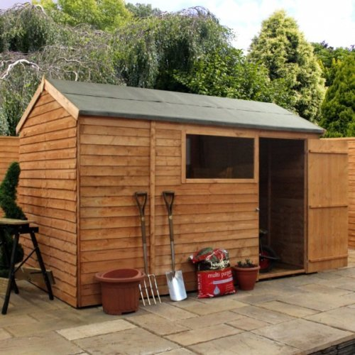 10x6 Overlap Reverse Apex Shed