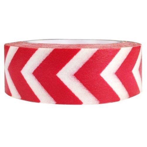 Wrapables Striped Japanese Washi Masking Tape Red Arrow