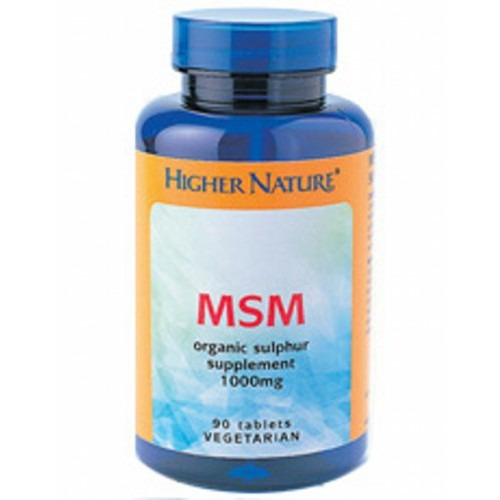 Higher Nature Msm Sulphur  90 Tablets