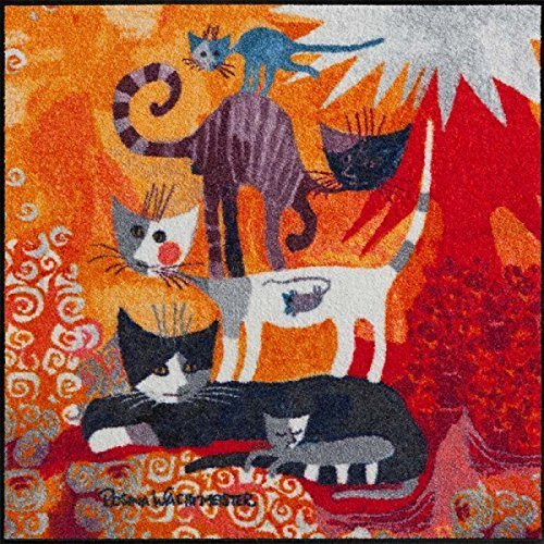 Rosina Wachtmeister doormat colourful size 85x85 cm